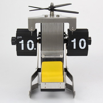 Helicopter Flip Clock for Desk Decor