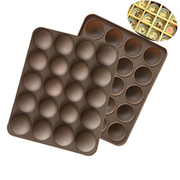 Cake Tools Non-Stick Silicone 20-Half Ball Shaped Mini Truffles Mold For Chocolate Mould Baking Truffle Dessert Decorating H560