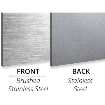3MM Brush Stainless Steel/Stainless Steel Panel