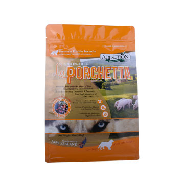 Custom Print Side Square Bottom Pet Food Packaging Square bottom Bag 5~10kg in Compostable