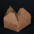 Take Away Fast Food Kraft Paper Packaging Boxes