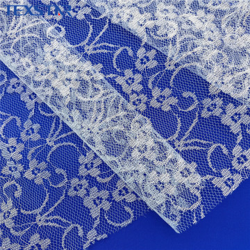 Fashion Jacquard Fancy Lace Fabric With Allover Flowers
