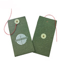 Small Green paper button string envelope pocket