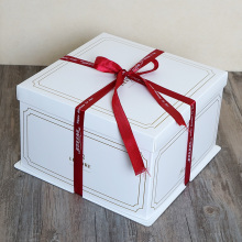 Square birthday cake packaging box