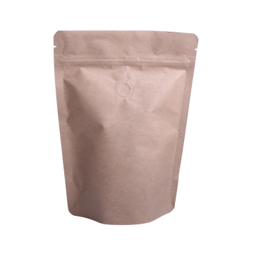 250g yellow kraft paper stand up pouch bag with zipper