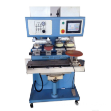 PLC 4-color open ink well pad printing machine with shuttle and independent pad