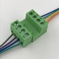 pluggable 4 pin male to female terminal block