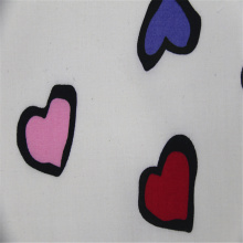 Love Printed Cotton Plain Fabric