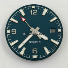 Watch Dial + Watch hands 31mm Sterile Blue Dial Fit Miyota 8205,8215,821A Mingzhu DG2813 3804 Movement Watch Parts