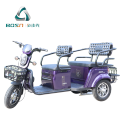 An upscale electric recreational tricycle with accommodation of 3 persons