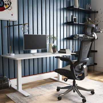 Electric Height Adjustable Sit Stand Computer Desk