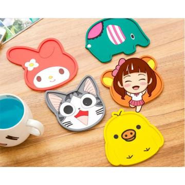 1PC Silicone Insulation Pad Cartoon Felt Antiskid Mat Cup Table Mat Bowl Cup Pads Mat Drink Coaster Placemat NX 024