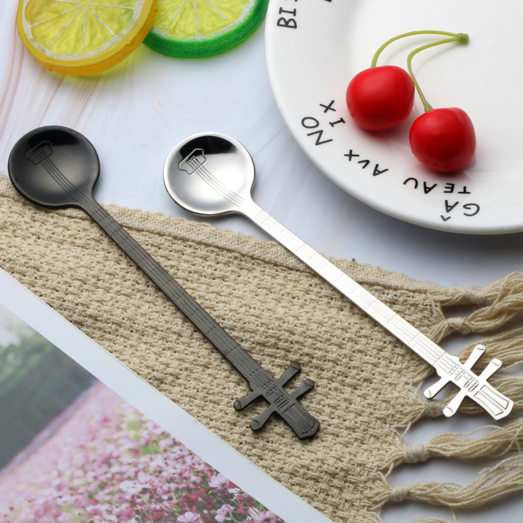 Stainless steel music spoon