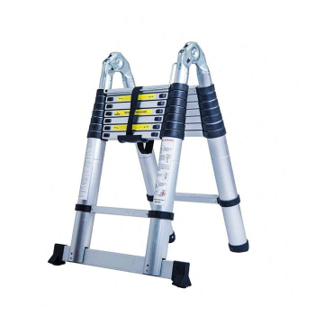 AluminIum double telescopic ladder agility ladder