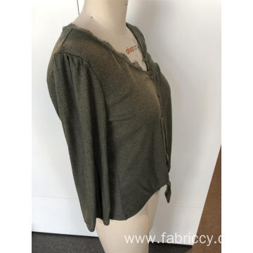 V-neck with long sleeves