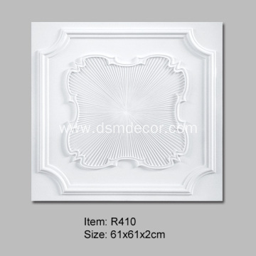 Square Ceiling Tiles with Ceiling Rose