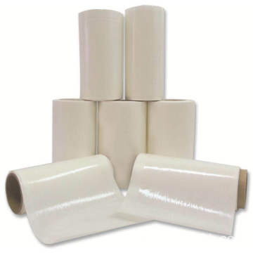 Transparent high elasticity hot melt adhesive film