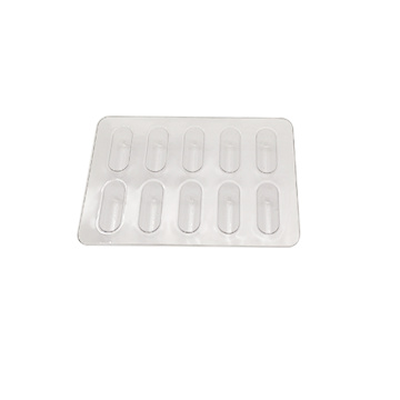Transparent PVC Capsule Pill Tray Blister Packaging