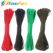 YoouPara 100 Feet Reflective Paracord 10 colors 7 Strand Outdoor Campling Tent Wind Parachute Rope Survival Emergence Rope Cord