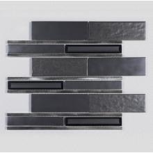 Hotel Black Aluminum Powder Glass Ceramic Mosaic Tiles