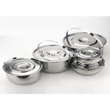 5 Piece Multiclad Stainless Steel Cookware Set
