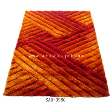 Polyester Silk Shaggy 3D Carpet