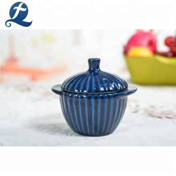 Hot sale ceramic cooking cheap custom printed mini restaurant colorful stock pots