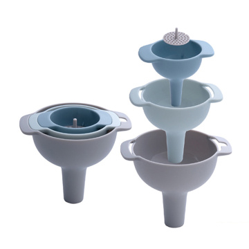 Garwin 3pcs food grate nested plastic funnel set