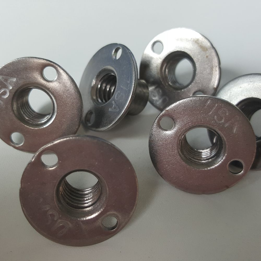 Round Base T Nuts for climbing wall