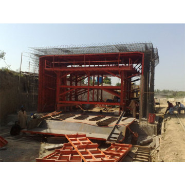 Inside Concrete Lining Tunnel Formwork Trolley Casting Mould