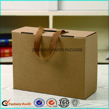 Recycled Paper Carton Shoe Box With Handle