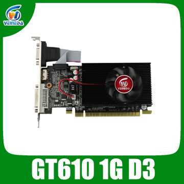 VEINIDA graphics card GT610 1GB Low Profile Geforce Chipset video DDR3 for normal PC and LP case Stronger Than HD6450