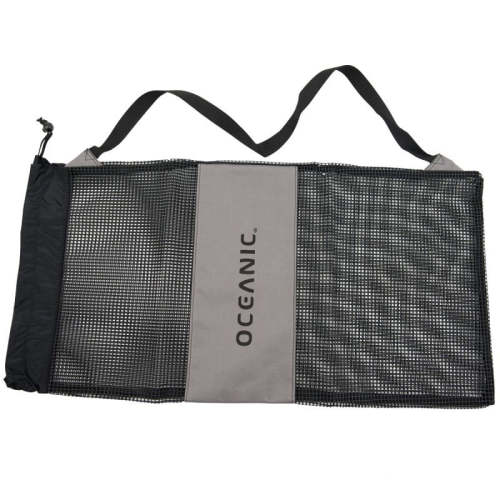 custom polyester mesh handle drawstring bag