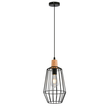 Black metal  pendant light with Edison