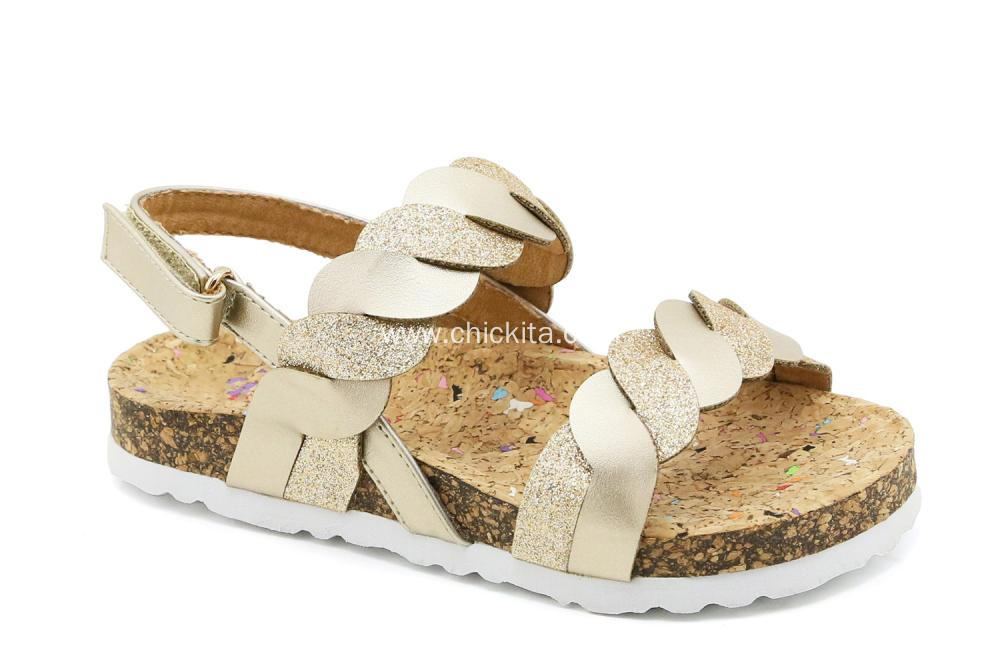 Strips of Cross Sandals Shoes for Little Girls