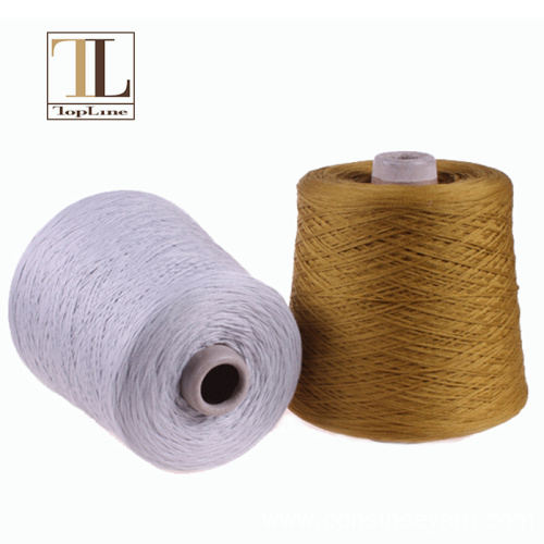 soft thick mako cotton yarn for luxury brands