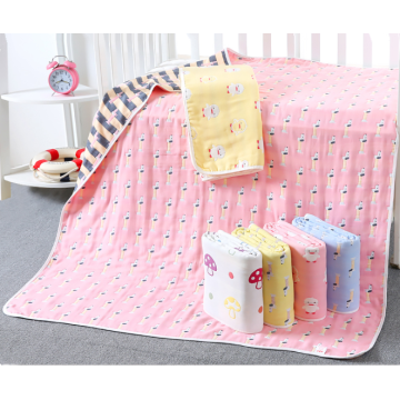 useful 6 layer cotton  jacquard baby blanket