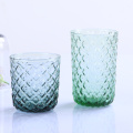 Factory Direct High Quality Diamond Pattern Colored Glass Cup