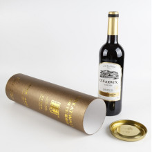 Luxury Paper Foil Stamping Wine Tube Gift Box