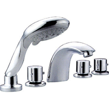 5 Holes Bathtub Tap with Hand Shower