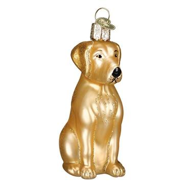 Customized Blown Glass Christmas Ornament Dog Shaped Labrador