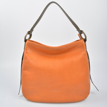 Casual Zippered Handbag Large Leather Hobo bag