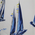 Cotton Woven Sailboat Print Fabric