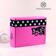 Pink color clothing folding paper mailing box