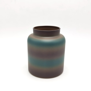 Retro color scented candle jar glass candle holder
