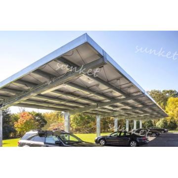 Single row coverage Carport assembly by solar panels