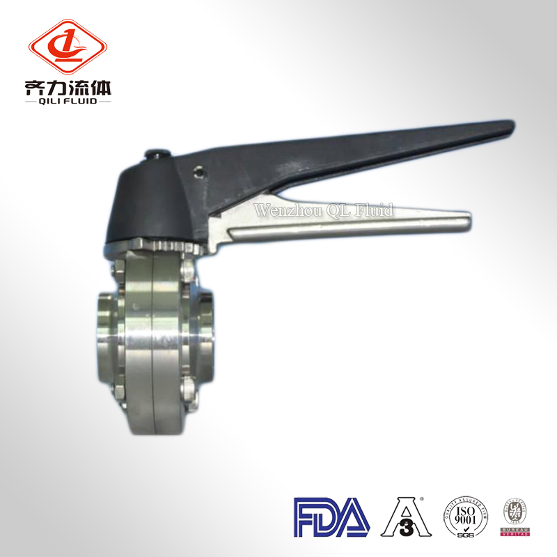 Plastic Handle Sanitary Butterfly Valve