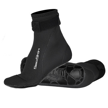 Seaskin Long Neoprene Socks with Velcro Closure
