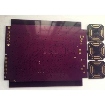 purple solder PCB with immersion gold