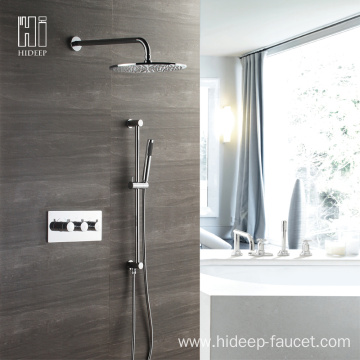 HIDEEP Thermostatic Rainfall Shower Faucet Set